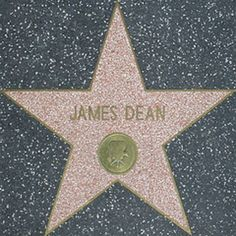 James Dean Hollywood Walk of Fame Star ❤ liked on Polyvore