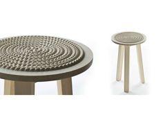 Tavolino poggiapiedi ~ Sgabello alto con poggiapiedi collezione stack by gandia blasco
