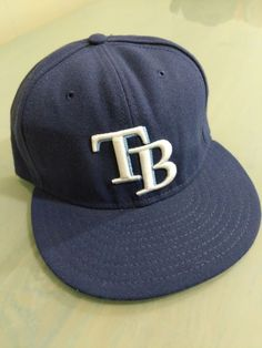 bbb5f478a20 New Era Tampa Bay Rays GAME 59Fifty Fitted Hat (Light Navy) MLB Cap 7 3 8