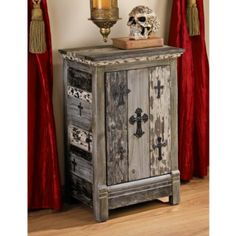 Amazon.com: Gothic Sanctuary Side Table Cabinet: Home & Kitchen