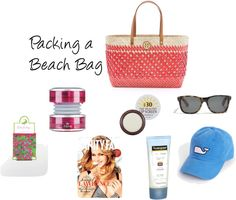 """Packing a Beach Bag"" by lauren-brousell on Polyvore"