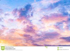 Розовое небо - ванильное небо - небо конфеты Стоковое Фото - изображение насчитывающей климат, свет: 94969238
