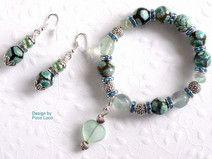 Schmuckset Armband Ohrringe Silber Jaspis Achat