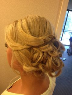 Wedding hair I did!