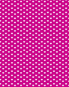 white hearts on fuschia background - free paper printable