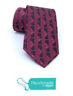 "Claret red and black plaid men's tie 7 cm (2,76"") SL-490 from Nazo Design https://www.amazon.com/dp/B01FPFD7GS/ref=hnd_sw_r_pi_dp_jcW5xbSA2VF3P #handmadeatamazon #nazodesign"