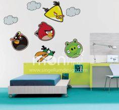 Vinilo de Angry Birds, Vinilos Decorativos, Vinilos, Vinilo, Vinilos Adhesivos, Vinilos Decorativos, Infantiles, Decoración de Paredes, Stickers, Pegatinas.