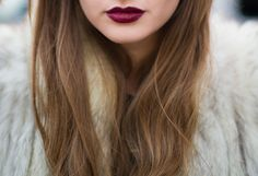 Burgandy lips