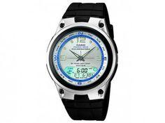Relógio de Pulso Masculino Esportivo Anadigi - Cronômetro Casio Mundial AW-82-7AVDF