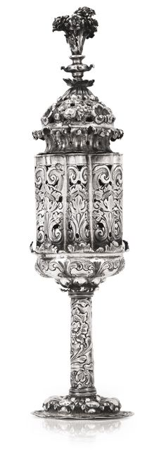 ITALIAN SILVER SPICE TOWER Venice, Early 18th Century