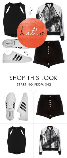 """""""""""Pay attention to the little things. They're more important than you think' - (Matt Gutierrez)"""" by punkrockmeansfreedom ❤ liked on Polyvore featuring adidas, River Island, Topshop and Paul Frank"""