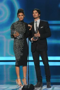 Ian Somerhalder & Nina Dobrev - People's Choice Awards 2014 (08-Jan/Ene-2014)