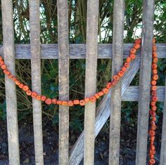 Halloween decor, primitive garland, pumpkin garland, miniature pumpkins, putka pods, little pumpkin pods, fall decor