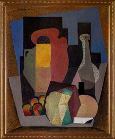 Diego Rivera  Cubist Still Life (with carafe), 1916 Oil on canvas,  81.9 x 65.4 cm  Collection of the Museo Dolores Olmedo, Xochimilco, Mexico