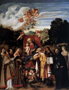 CARIANI, Giovanni, Virgin Enthroned with Angels and Saints