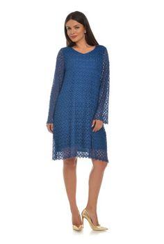 Rochie albastra din dantela CSF-133 -  Ama Fashion Sweaters, Dresses, Fashion, Moda, Vestidos, Fashion Styles, Sweater, Dress, Dressers