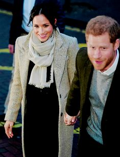 """jacksdawsn: """""""" Meghan Markle and Prince Harry are seen leaving Reprezent Radio on January 9, 2018 in Brixton """" """""""