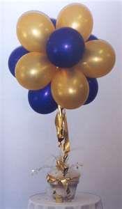 balloon topiary idea - colored balloons in a galvanized bucket?