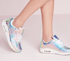 These insanely sweet holographic trainers that will make you feel like a ~space queen~.   30 Insanely Stylish Sneakers You Can Wear With Every Outfit