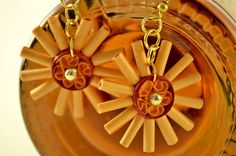 Sun Spike Quilling Earrings  Free Shipping by thoughtwork on Etsy