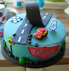 Lightning mcqueen cake for my grandson zachary. Lightning Mcqueen Party, Happy Birthday Kids, Niklas, Character Cakes, Cakes For Boys, Sweet Cakes, Creative Cakes, Celebration Cakes, Party Cakes