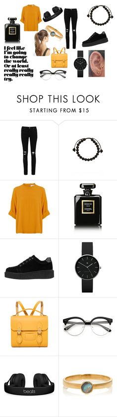 """""""casu"""" by gdad110300 on Polyvore featuring moda, Boohoo, Link Up, Chanel, Newgate, The Cambridge Satchel Company, Beats by Dr. Dre, Rebecca Joseph y France Luxe"""