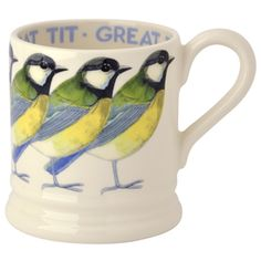 """Birds"" Great Tit 1/2 Pint Mug 2014 at Emma Bridgewaterhttps://www.emmabridgewater.co.uk/invt/1bir240002"