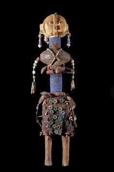 Africa   Ritual beaded Doll from the Ovambo or Mwila people of Angola   ca. 2000
