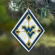 West Virginia Mountaineers Art-Glass Ornament