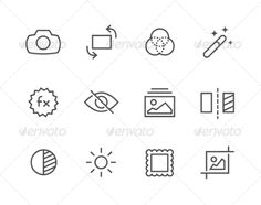 Outline Image Editing Icons by davooda Simple Set of Image Editing Related Vector Icons for Your Design. Vector EPS 10 Format. Well organized and layered. Fully Editable