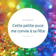 🐔 Cette petite puce me convie à sa fête #contrepèterie #lapoulequimue #puce #fête