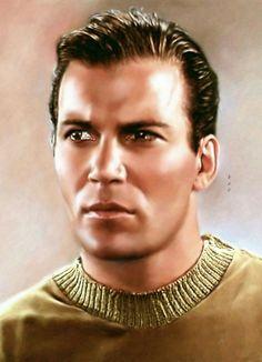 Star Trek: William Shatner as James T Kirk Star Trek Crew, Star Trek Tv, Star Wars, Star Trek Original Series, Star Trek Series, Scotty Star Trek, Star Trek Posters, James T Kirk, Star Trek Captains