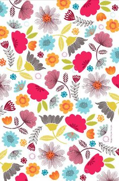 beautiful pattern from MaggieMagoo Designs, aka Leeds-based surface pattern designer Carole Fenwick / print & pattern Pretty Patterns, Flower Patterns, Beautiful Patterns, Pattern Vegetal, Motif Floral, Floral Prints, Wallpaper Backgrounds, Iphone Wallpaper, Design Graphique