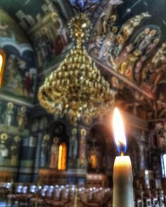 In the church St. Minas Naoussa. In the church where I offer my services as a priest.  Ιερός ναός Αγίου Μηνά Ναούσης  #monastery #greekorthodox #orthodox #christian #church #liturgy #Greece #greek #deacon #priest #monk #god #religion #jesus #architecture #byzantine #art #lifestyle #naousa #holy #saint #gopro #sony #sonya7s #sony #pray #praying #prayer #candle #candles #icon by paulos_papa