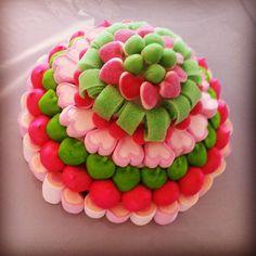 Tarta de Chuches en rosa y verde