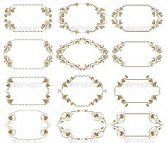 Decorative Frames #GraphicRiver Set of vintage frames with floral elements for invitations. Page decoration. Vector eps8 illustration is fully editable. File contain 12 frames. Created: 29April13 GraphicsFilesIncluded: JPGImage #VectorEPS Layered: No MinimumAdobeCSVersion: CS Tags: abstract #art #banner #baroque #border #calligraphic #damask #deco #decor #design #diploma #elegant #filigree #frame #gold #gothic #graphic #menu #modern #motif #old #ornament #pattern #rich #swirl #template…