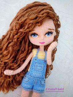 Crochet Doll Tutorial, Crochet Doll Pattern, Crochet Baby, Crochet Geek, Crochet Amigurumi Free Patterns, Knitted Dolls, Amigurumi Doll, Crochet Crafts, Doll Patterns