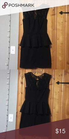 Tight black dress with lace at the top Right black dress with lace, super cute! Speechless Dresses