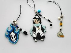 Bleach Anime Keychains and Charms by ShishoDesigns on Etsy