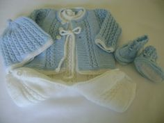 Knit Baby Boy Romper Set to depart from the hospital.