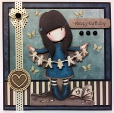 As featured in Crafts Beautiful Magazine. Made using Gorjuss Decoupage.  For more info please see my blog - http://www.kittyskrafty.blogspot.co.uk/2013/07/gorjuss-birthday.html