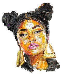 Behind The Scenes By worldofartists Diy Photo, Photo Art, Nicki Minaj Drawing, Emoji People, Purple Crafts, Nicki Minaj Barbie, Emoji Wallpaper, Human Art, Animal Faces