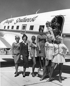PSA flight attendant uniforms over the years of change #aviationglamourstyle