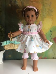 A personal favorite from my Etsy shop https://www.etsy.com/listing/520621969/american-girl-easter-bunny-outfit