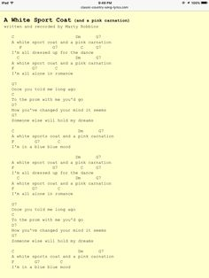 Marty Robbins song: Strawberry Roan, lyrics and chords ... - photo#46