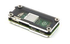 Zebra Zero Raspberry Pi Zero Case ~ Type 2 Black Ice with Heatsink