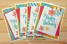 Birthday Card Ideas from the Stamping Cruise