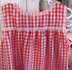 Red Gingham Maxi Dress 3T4T by lishyloo on Etsy, $10.00