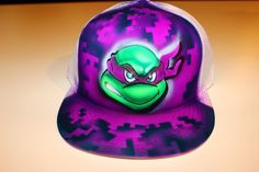 TMNT teenage mutant ninja turtles Donatello personalized airbrush trucker hat #CustomizedPersonalized #Trucker