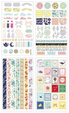 Floral Deco Sticker Set at Mochi Things